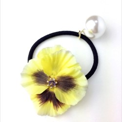 hair elastic♡frill pansy♡yellow