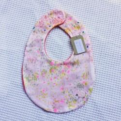 baby bib sheep pink