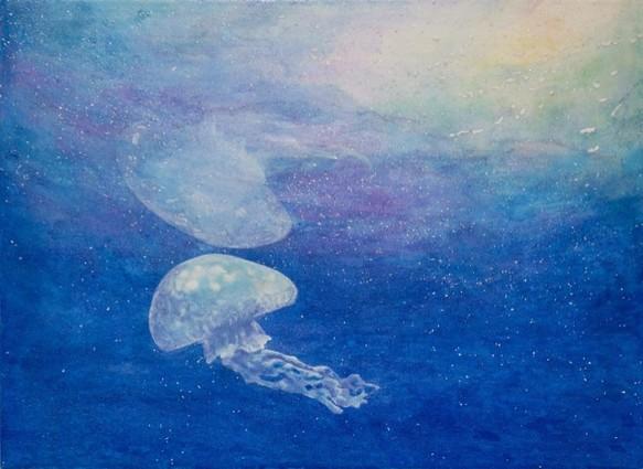 「物案じ ~意思~」 日本画   片野莉乃の絵画