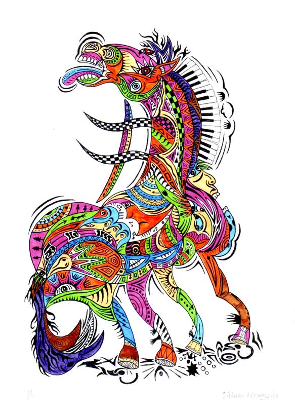 馬@挑戦的デザイン | 挑戦的デザインの絵画
