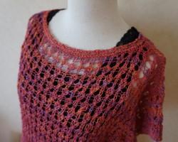 【製図】「中長編みと細編みで編む簡単ニット」 | rakuaの編み図・パターン
