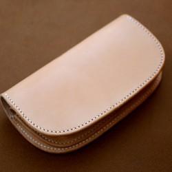 本革サドルレザーのシンプル長財布(受注制作)