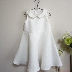白ワンピース*110センチサイズ|子供服|Lapacho|ハンドメイド通販・販売のCreema