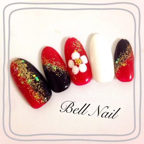 梅の花ネイル/成人式