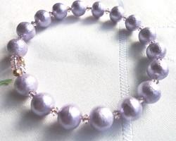 コットンパール☆ブレスレット 紫