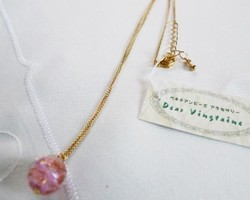 ベネチアンビーズのネックレス☆ピンク