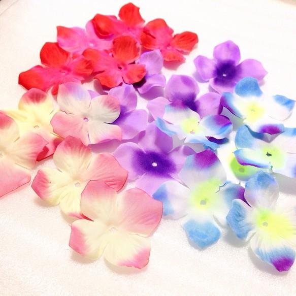 40枚 アジサイ 紫陽花 花びら造花パーツ