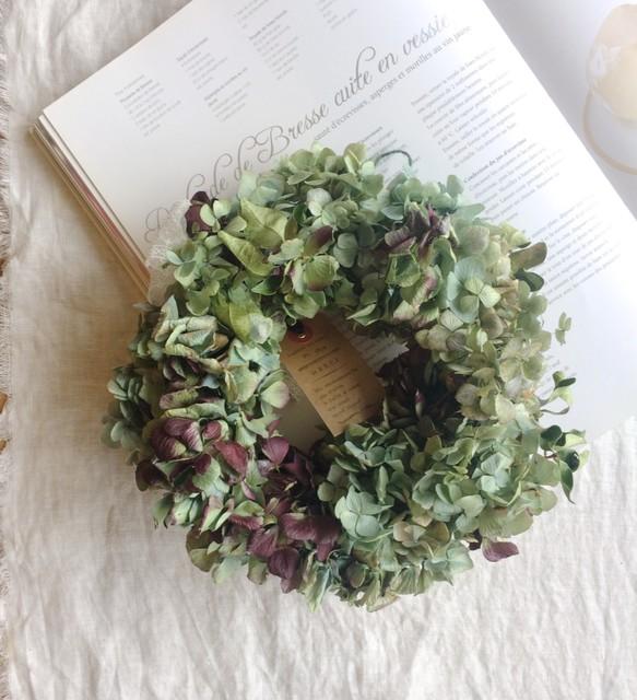 ドライフラワー紫陽花のシンプルリース | primadecorのフラワー・リース