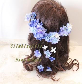 ヘッドドレス、髪飾り ウェディング 造花 オーダーOK