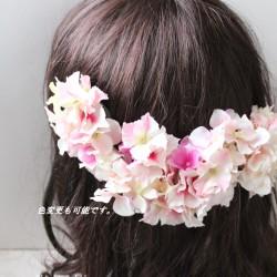 ヘッドドレス、髪飾り ウェディング 造花 オーダーOK|ヘッドドレス(ウェディング)|花*花|ハンドメイド通販・販売のCreema