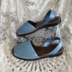 新作パステル水色★靴擦れしない疲れない本革オーダーメイドサンダル ★☆甲高や幅広の方には特にオススメです☆|シューズ・靴|3LDK|ハンドメイド通販・販売のCreema
